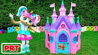 Vlad e Nikita constroem Playhouses para boneca