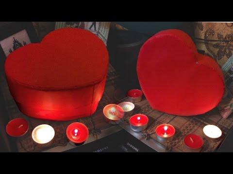 DIY Как сделать коробку в виде сердца? | Heart box Valentines day