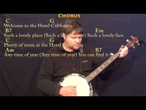 Banjo banjo tabs hotel california : Hotel California - Banjo Cover Lesson in Em with Chords/Lyrics ...