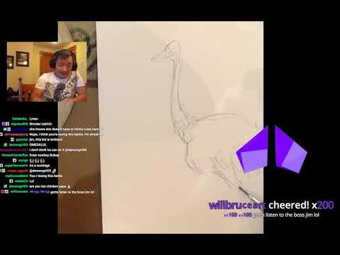 WONDER OSTRICH! FLASH SNAIL! GRIFTER! Art stream with Jim Lee!