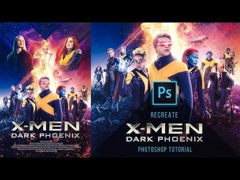 X-Men Dark Phoenix - Poster Photoshop Tutorial  - How to recreate it - Timelapse thumbnail