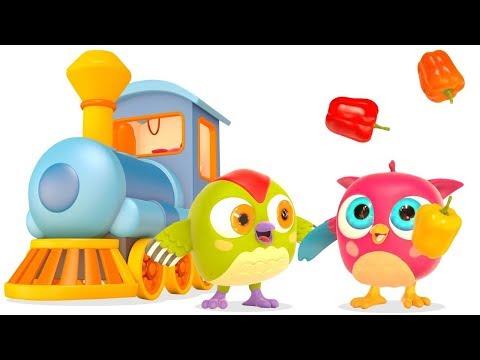 Çizgi Film. Baykuş Hop Hop Sebzeleri Topluyor! Küçük çocuklar Için Eğitici Video