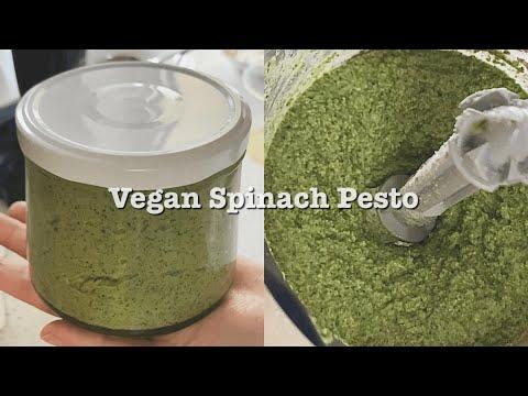 비건 시금치 페스토 만들기 (비건 퀘사디아) Vegan spinach pesto recipe (+ Vegan quesadillas) ほうれん草 ペースト の作り方