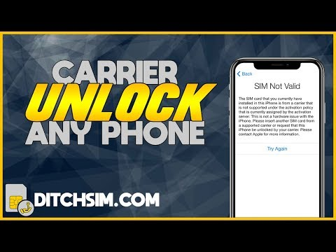 How To Carrier Unlock Your IPhone ✅ Fix SIM Not Supported ✅ Use Any Network