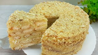 Торт за 5 минут Вы будете делать этот торт каждый день. БЕЗ ПЕЧИ Торт Наполеон 192