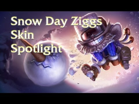 League Of Legends Skins: Snow Day Ziggs