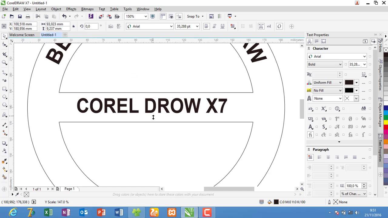 Cara membuat tulisan melingkar di corel,cara membuat saja blogger