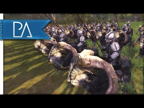 Battle at the Anduin River: Dwarves vs Elves - Third Age Total War Mod Gameplay