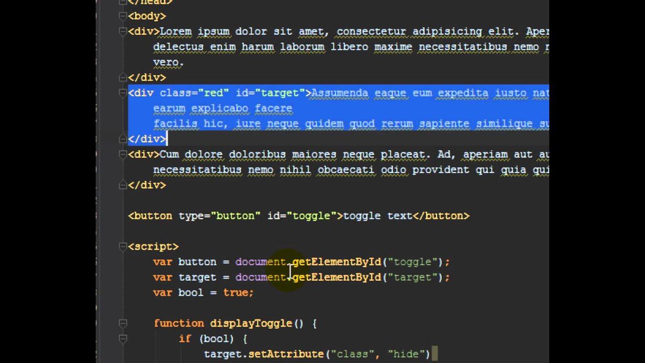 javascript show hide