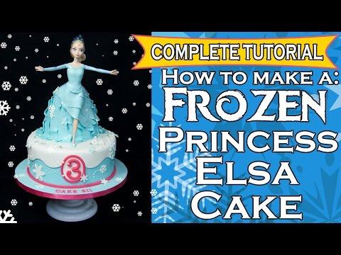 How to make a Frozen Princess Elsa Cake - Complete Tutorial