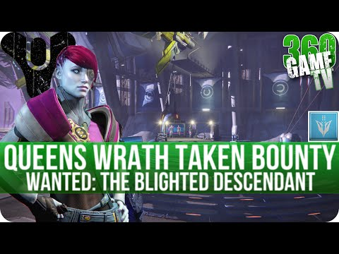 Destiny Wanted: The Blighted Descendant (Venus) Take the Wanted - Queens Wrath Taken Bounty Location