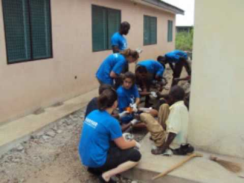 Volunteer in Ghana,Africa with Blue-Med Africa .
