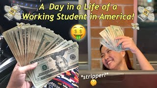 A DAY in a LIFE of a WORKING STUDENT in AMERICA!! (MINSAN SERVER, MINSAN STRIPPER CHAROT!!)