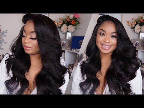 """Unice Hair  Brazilian Bodywave  """"Recreating"""" Alliyahsface hairstyle"""