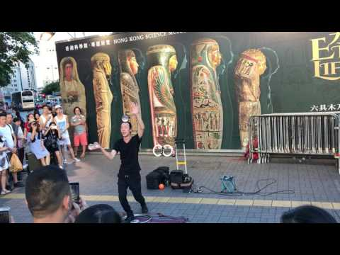 Hong Kong's cool street show in Kowloon area