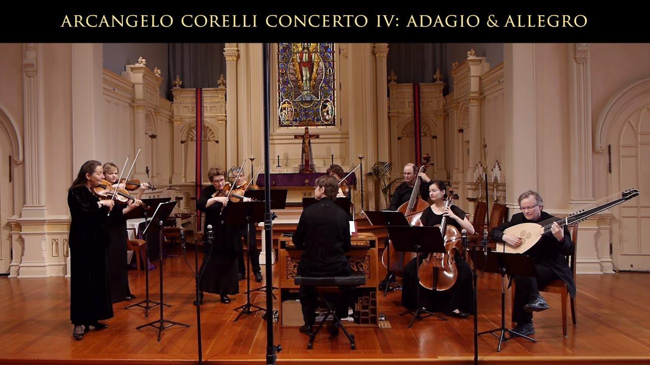 Arcangelo Corelli: Concerto Grosso Opus 6 No. 4 in D Major; Adagio ...