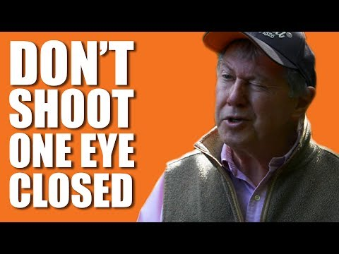 Don't shoot one eye closed, says top shot