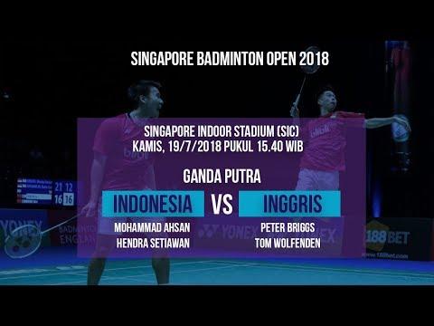 Jadwal Laga Timnas Ganda Putra Badminton Indonesia Melawan Timnas Inggris