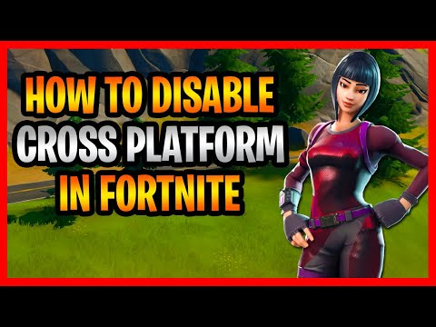 How To Disable Cross Platform In Fortnite! - Easiest Way To Turn Off Cross Platform In Fortnite!