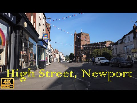 Walking Tour High Street, Newport Shropshire In May 2020 In 4K