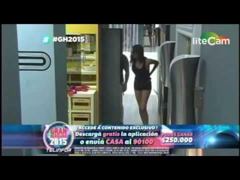 #GH2015: Mariano Verón y Belén Etchart se besaron dentro de un placard