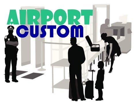 Các câu hỏi quan trọng tại sân bay - Kiểm soát hải quan  đoạn hội thoại tiếng Anh