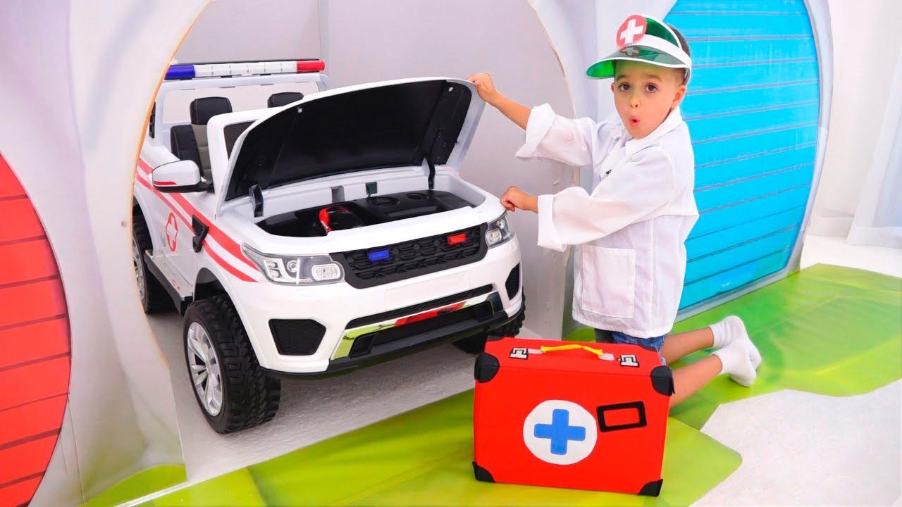 Vlad ve Niki oyuncak arabalarla eğleniyor - Çocuklar için komik videolar