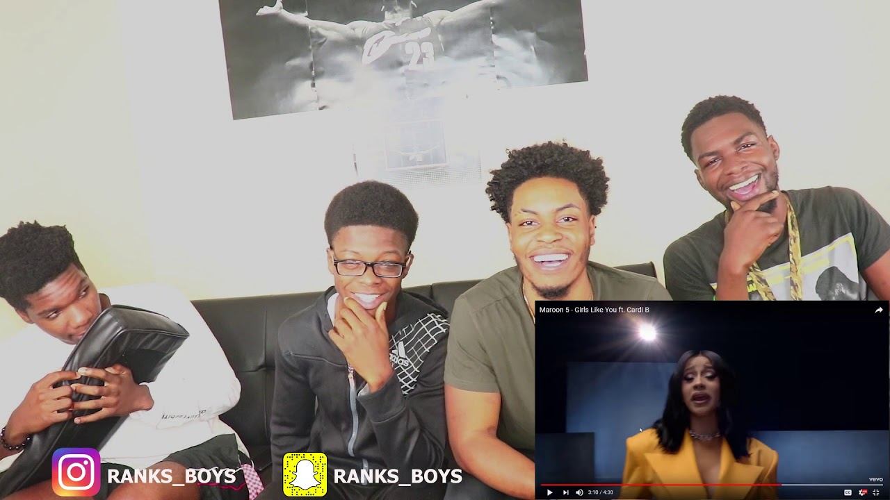 Maroon 5 - Girls Like You ft. Cardi B - REACTION #1