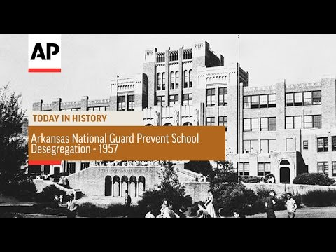 Arkansas National Guard Prevent School Desegregation - 1957  | Today in History | 4 Sept 16