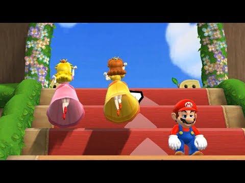 Mario Party 9 Step It Up - Peach vs Daisy vs Mario vs Luigi Master Difficulty| Cartoons Mee