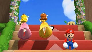 Mario Party 9 Step It Up - Peach vs Daisy vs Mario vs Luigi Master Difficulty| Cartoons Mee