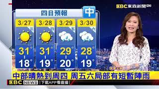 氣象時間 1080326 晚間氣象 東森新聞