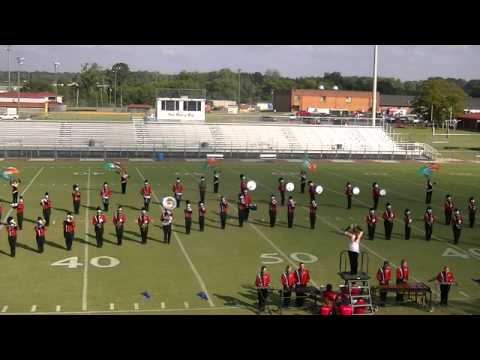 North Jackson High School Marching Chiefs Band at Boaz 2013