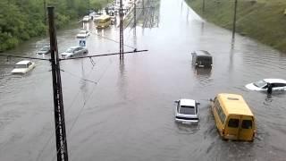 Барнаул, Павловский-Малахова, дождь 8 июля 2013