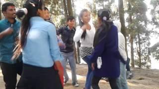 nepali ghirl and boy dancing