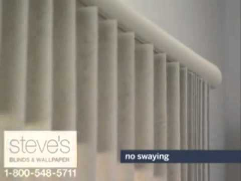 Kirsch Vertical Blinds with Backstacker Feature YouTube