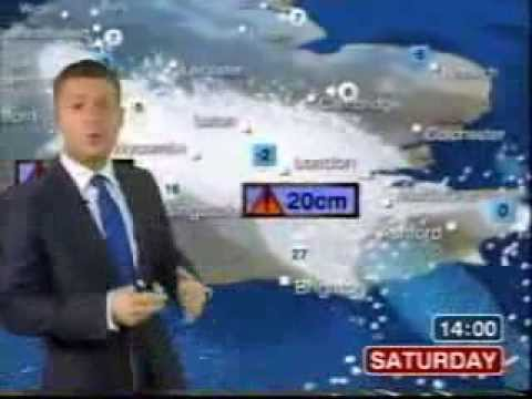 BBC Weather 18th December 2010: Heavy Snow in the south; a m