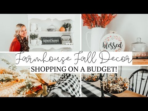 FALL Farmhouse Decorating Ideas (On a Budget!) | Fall Decor Shop + Haul 2019