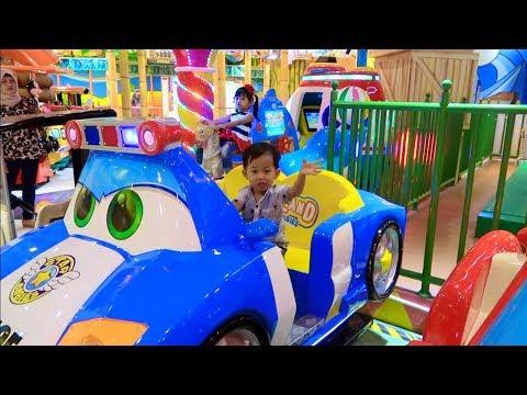 Adik Rafa Asik Bermain Naik Odong Odong Mobil Mainan Anak Odong-odong Lucu Karakter McQueen Cars