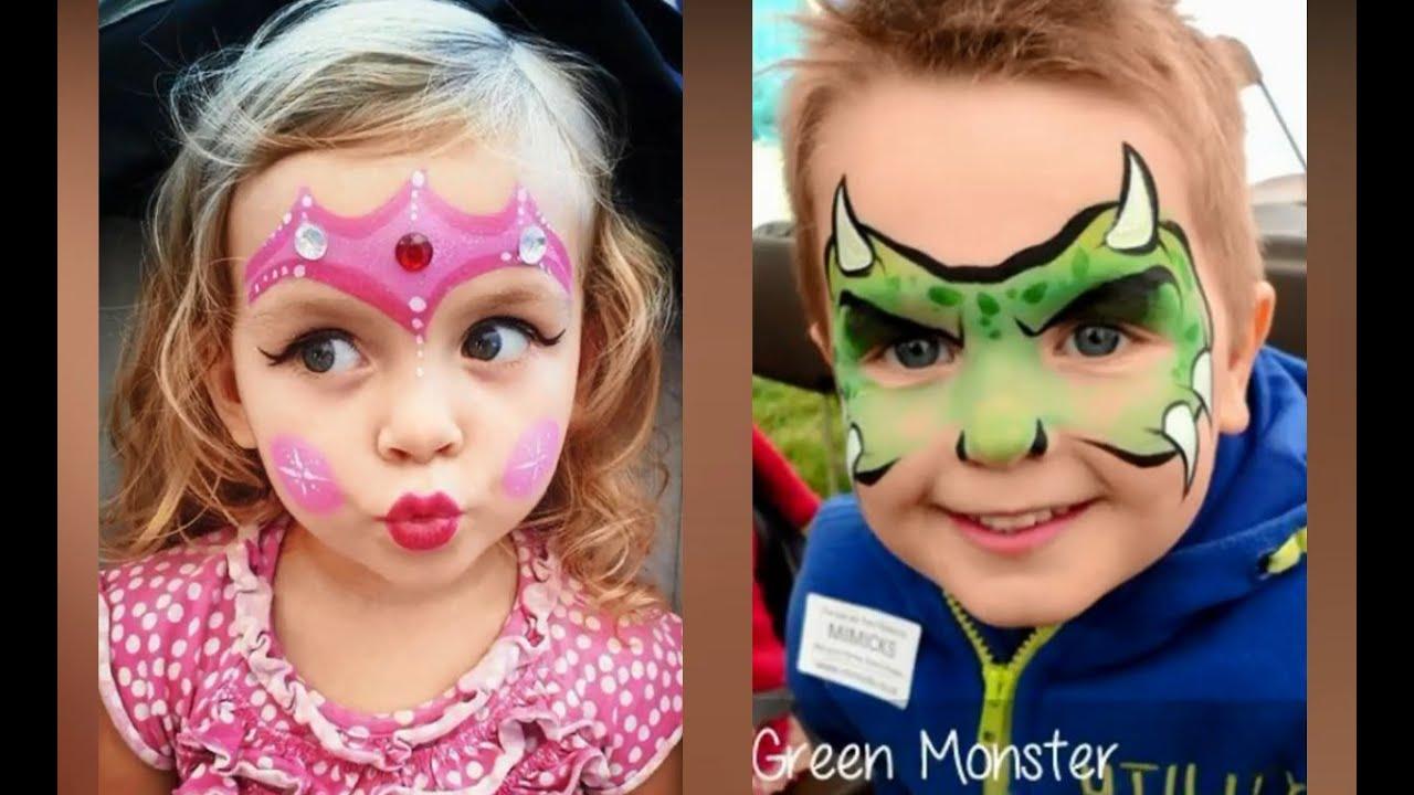 افكار سهلة وحلوة للرسم على الوجه للأطفال للحفلات 2019 Easy And Cute Face Painting Ideas For Kids Youtube