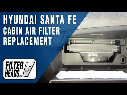 How To Replace Cabin Air Filter 2015 Hyundai Santa Fe