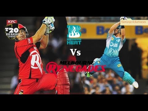 Melbourne Renegades vs Brisbane Heat, Big Bash League, 2017 2018, Dec 2017, 6th Match
