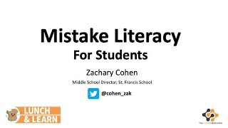 Mistake Literacy for Students