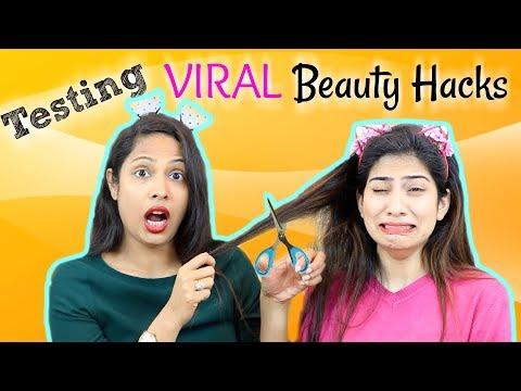 OMG!! Testing VIRAL Beauty Hacks ... | Shruti Arjun Anand