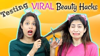 OMG!! Testing VIRAL Beauty Hacks ... | Shruti Arjun Anand