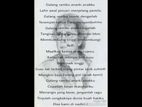 Iwan fals (Galang rambu anarki ) dan lirik