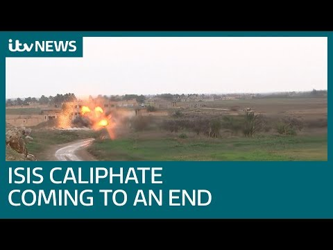 Islamic State's final fighters hold on in Baghouz as caliphate crumbles | ITV News