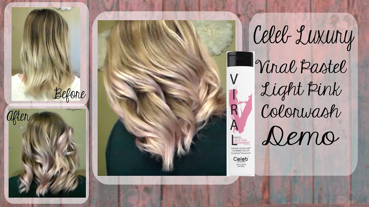 Pastel Pink Hair Celeb Luxury Viral Colorwash Demo