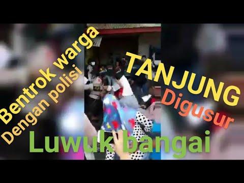 Bentrok warga dengan polisi di tanjung luwuk banggai ( penggusuran tanjung luwuk banggai )