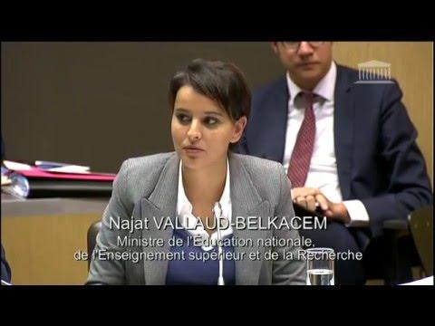 Intervention de Najat Vallaud-Belkacem lors du débat sur la mixité sociale dans l'éducation